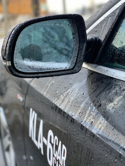 Anti fog film for car mirrors